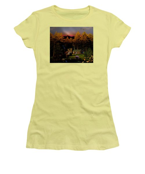 Sundown In The Rockies Women's T-Shirt (Junior Cut) by J Griff Griffin