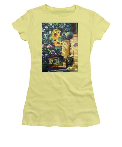 Sunflower Aloha Women's T-Shirt (Athletic Fit)