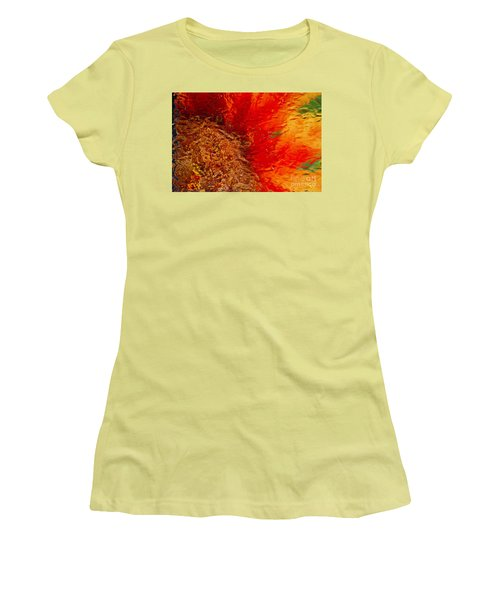 Women's T-Shirt (Junior Cut) featuring the photograph Sunflower Impressions by Jeanette French