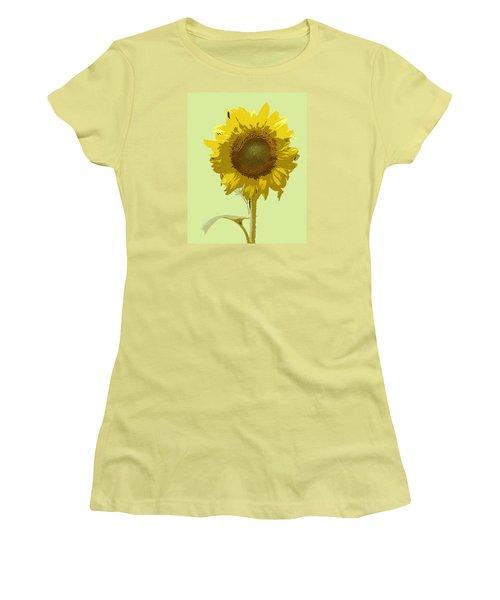 Women's T-Shirt (Junior Cut) featuring the digital art Sunflower by Karen Nicholson