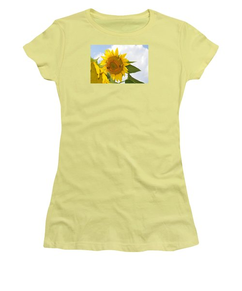 Women's T-Shirt (Junior Cut) featuring the photograph Sunflower by Linda Geiger