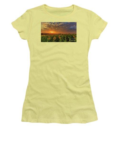 Sunflower Peak Women's T-Shirt (Athletic Fit)