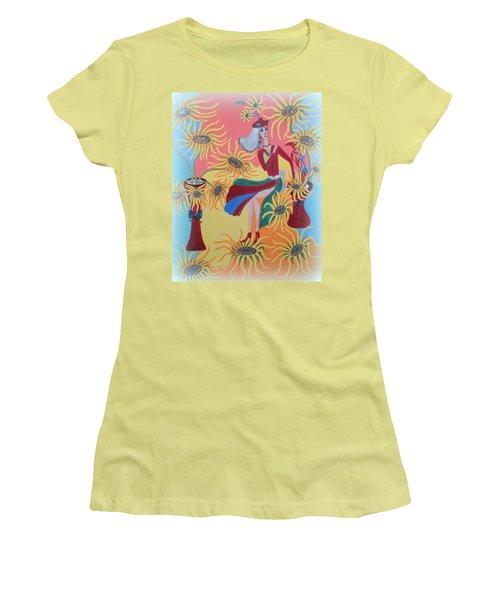 Sunflower's Contessa  Women's T-Shirt (Athletic Fit)