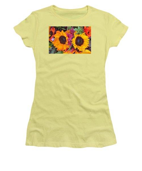 Sunflowers Eyes Women's T-Shirt (Junior Cut)