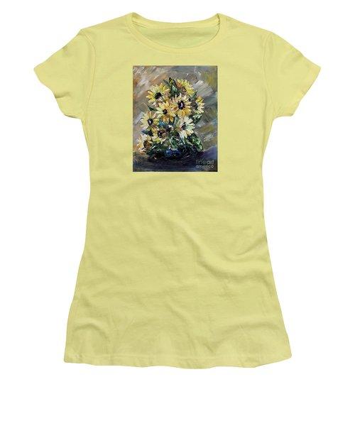Sunflowers Women's T-Shirt (Junior Cut) by Teresa Wegrzyn