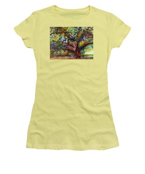 Sunlit Century Tree Women's T-Shirt (Athletic Fit)