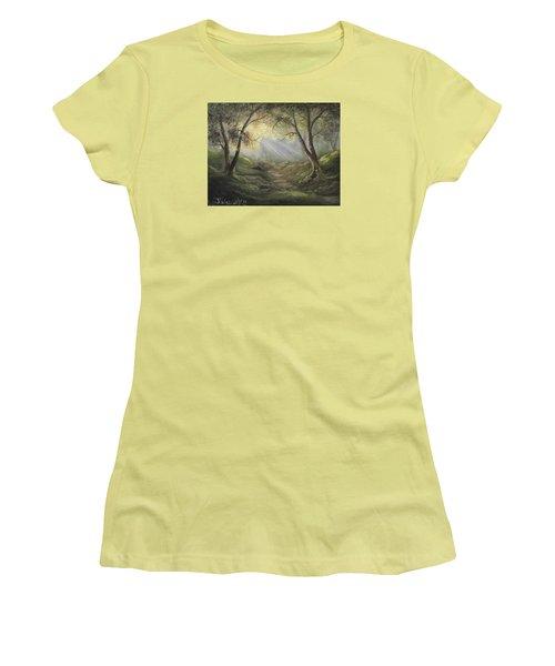 Sunlit Forrest  Women's T-Shirt (Athletic Fit)