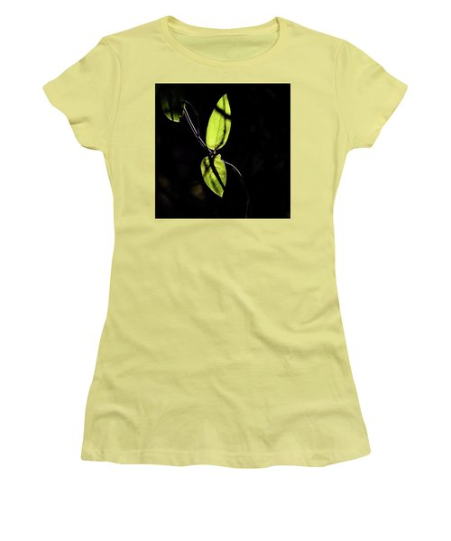 Sunlit Leaves Women's T-Shirt (Athletic Fit)