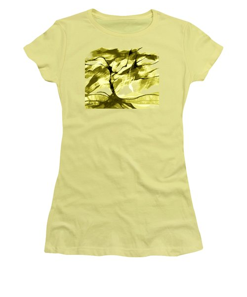 Women's T-Shirt (Junior Cut) featuring the digital art Sunny Day by Asok Mukhopadhyay