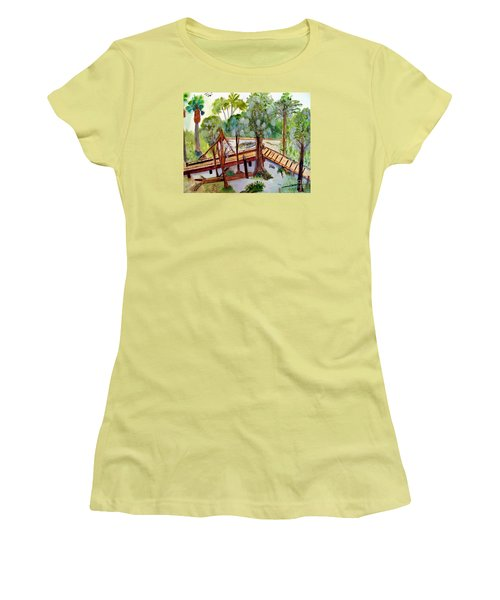 Sunny Day In Central Florida Women's T-Shirt (Junior Cut) by Sandy McIntire