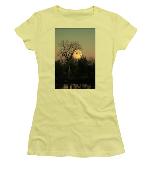 Women's T-Shirt (Junior Cut) featuring the photograph November Supermoon  by Chris Berry