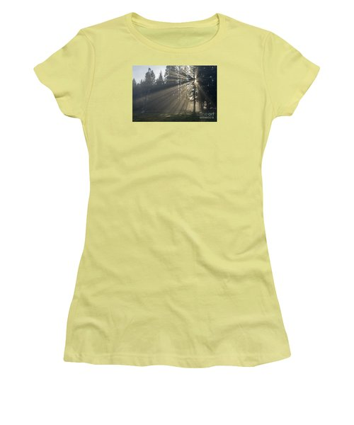 Women's T-Shirt (Junior Cut) featuring the photograph Sunrays by Inge Riis McDonald