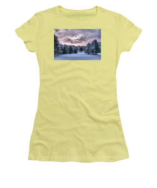 Sunrise After The Snow  Women's T-Shirt (Athletic Fit)
