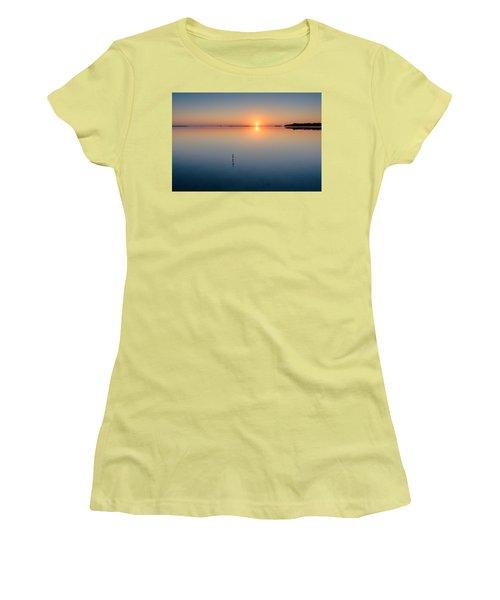 Sunrise Along The Pinellas Bayway Women's T-Shirt (Junior Cut) by Craig Szymanski