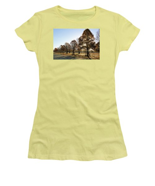 Sunrise And Long Shadows Women's T-Shirt (Athletic Fit)