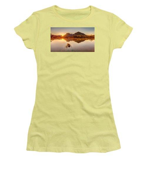 Sunrise At Banff's Vermilion Lakes  Women's T-Shirt (Junior Cut) by Pierre Leclerc Photography