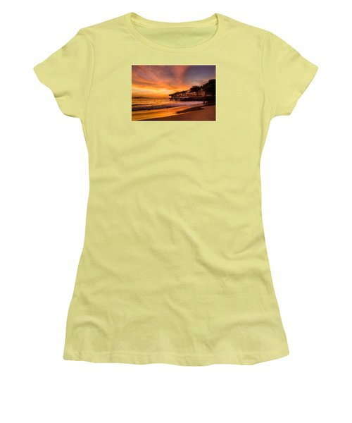 Sunrise At Copacabana Beach Rio De Janeiro Women's T-Shirt (Athletic Fit)