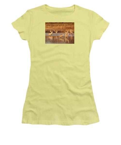 Sunrise At The Crane Pond Women's T-Shirt (Athletic Fit)