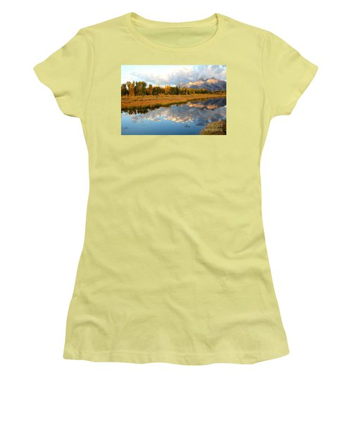 Sunrise At The Tetons Women's T-Shirt (Athletic Fit)