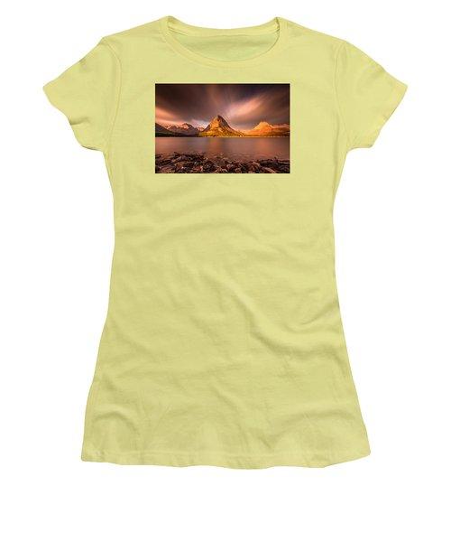 Sunrise In Glacier National Park Women's T-Shirt (Junior Cut) by Pierre Leclerc Photography