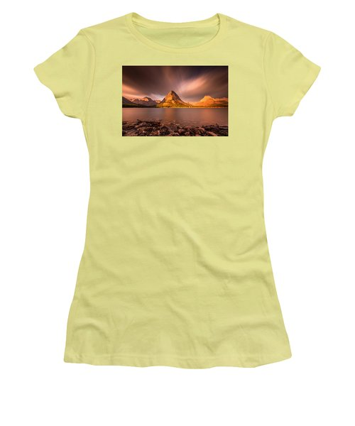 Sunrise In Glacier National Park Women's T-Shirt (Athletic Fit)