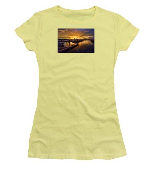 Sunrise Marina Women's T-Shirt (Athletic Fit)