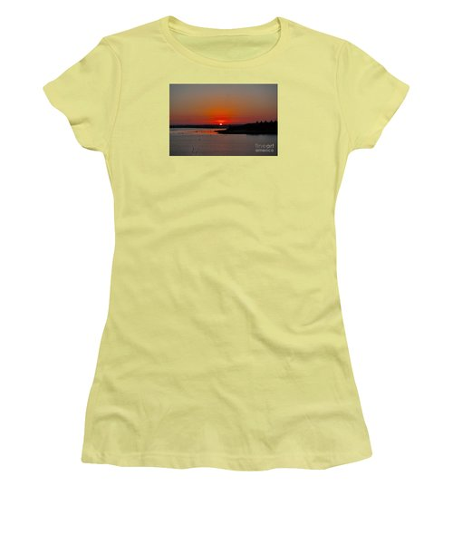 Sunrise On Lake Ray Hubbard Women's T-Shirt (Junior Cut) by Diana Mary Sharpton