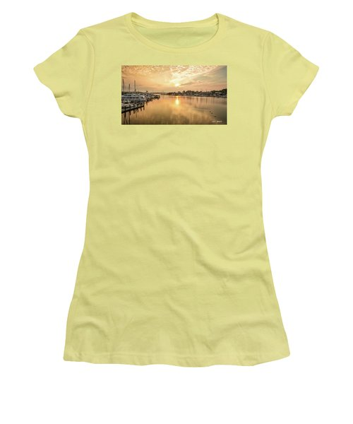 Sunrise On Spa Creek Women's T-Shirt (Athletic Fit)