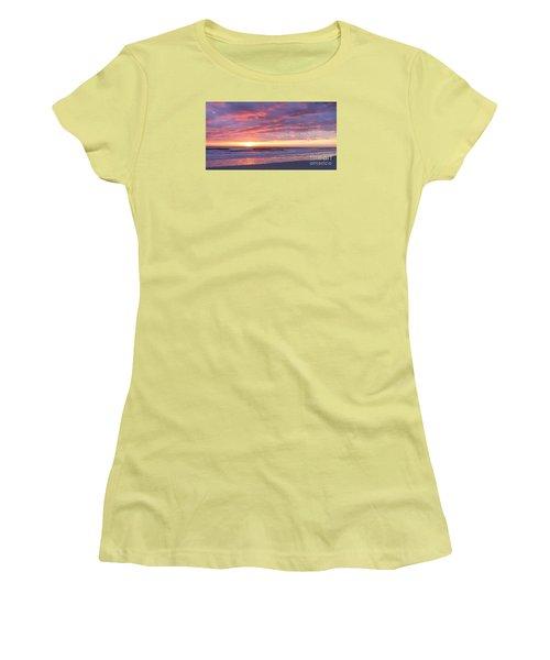 Sunrise Pinks Women's T-Shirt (Junior Cut) by LeeAnn Kendall