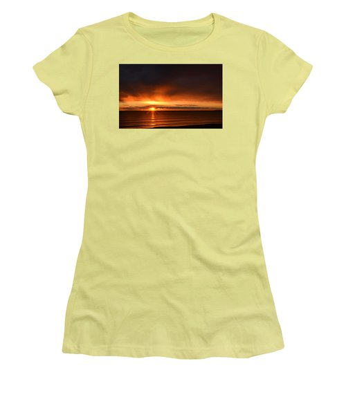 Sunrise Rays Women's T-Shirt (Junior Cut) by Nancy Landry