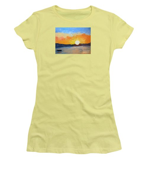 Sunrise At Pine Point Women's T-Shirt (Athletic Fit)