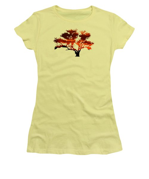 Sunrise Tree 2 Women's T-Shirt (Athletic Fit)