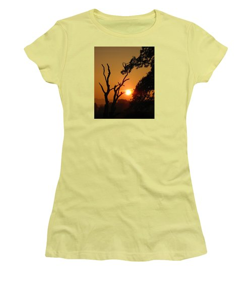Sunrise Trees Women's T-Shirt (Junior Cut) by RKAB Works