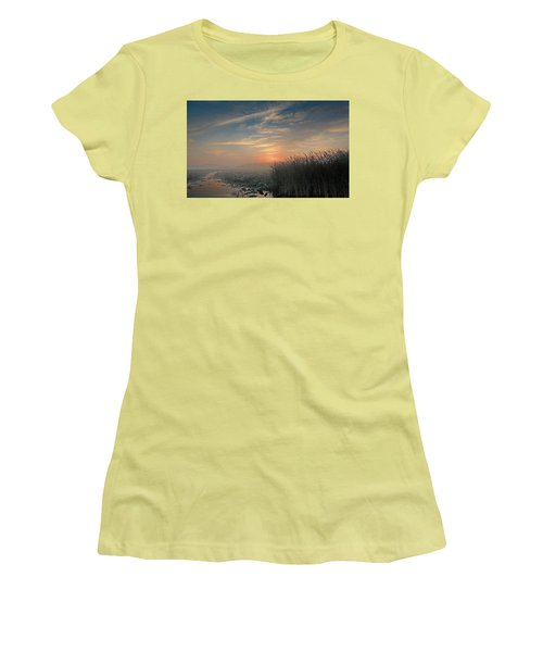 Sunrise Through The Fog Women's T-Shirt (Athletic Fit)