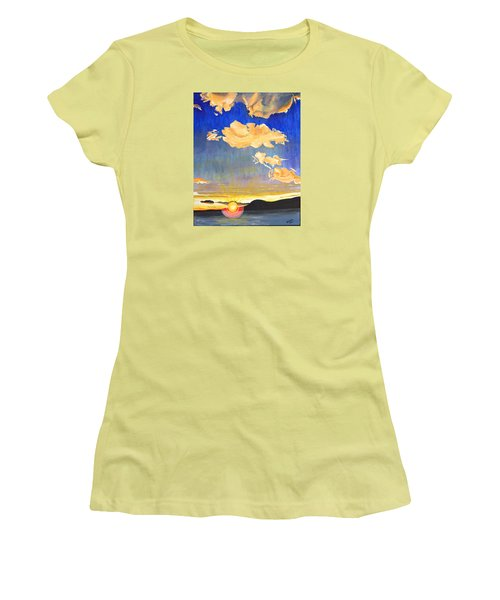 Sunset #6 Women's T-Shirt (Junior Cut) by Donna Blossom