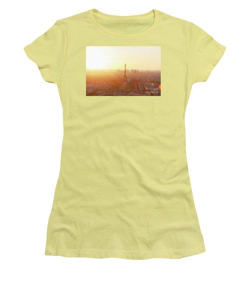 Sunset Above Paris Women's T-Shirt (Junior Cut) by Anastasy Yarmolovich