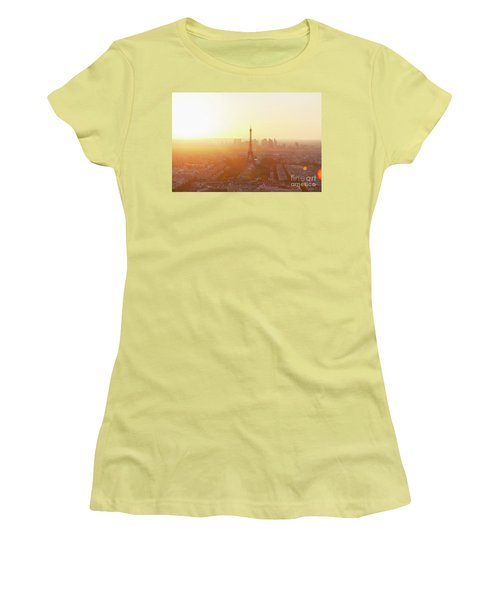 Sunset Above Paris Women's T-Shirt (Athletic Fit)