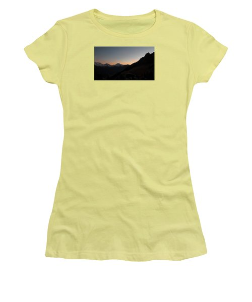 Sunset Afterglow In The Mountains Women's T-Shirt (Junior Cut) by Ernst Dittmar