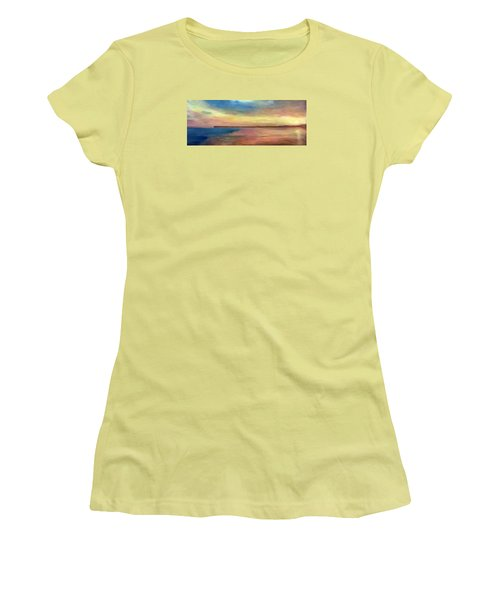 Sunset And Pier Women's T-Shirt (Athletic Fit)