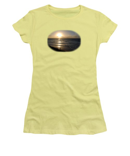 Sunset At Jaffa Beach T-shirt Women's T-Shirt (Junior Cut) by Isam Awad