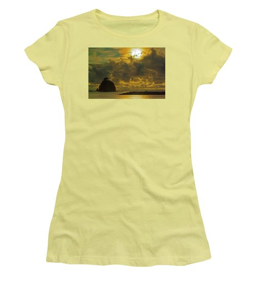 Women's T-Shirt (Junior Cut) featuring the photograph Sunset At Jones Island by Dale Stillman