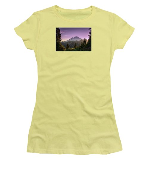 Sunset At Mt. Baker Women's T-Shirt (Athletic Fit)