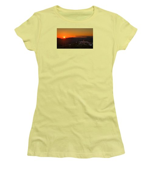 Sunset At Padna Women's T-Shirt (Athletic Fit)