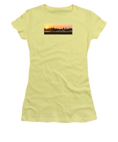 Sunset At Raf Lakenheath Women's T-Shirt (Junior Cut) by Tim Beach