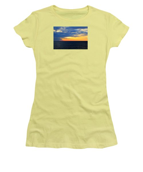 Women's T-Shirt (Junior Cut) featuring the photograph Sunset At Sail Away by Shelley Neff
