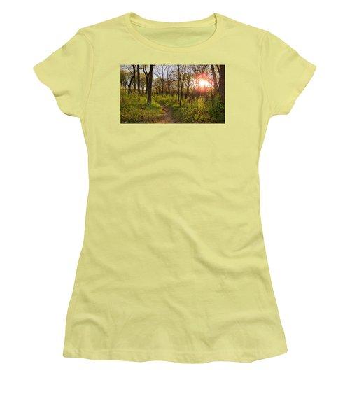 Sunset At Scuppernong Women's T-Shirt (Junior Cut) by Kimberly Mackowski
