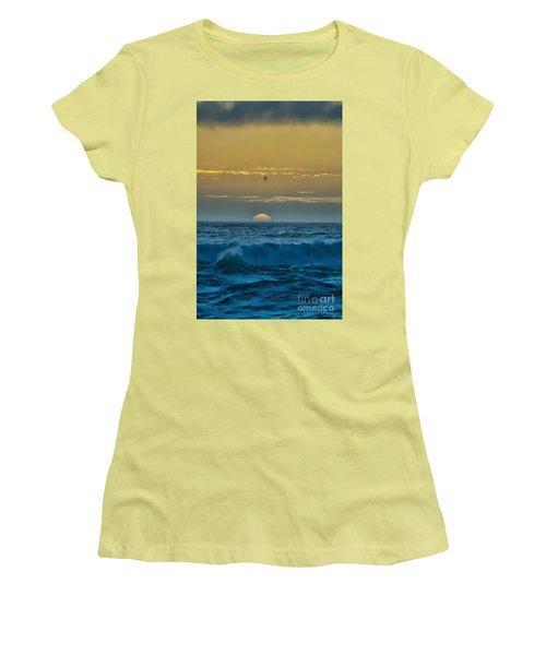 Sunset At Sea Women's T-Shirt (Junior Cut) by Billie-Jo Miller