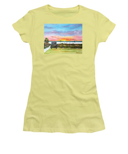 Sunset At Siesta Key Public Beach Women's T-Shirt (Junior Cut) by Lloyd Dobson
