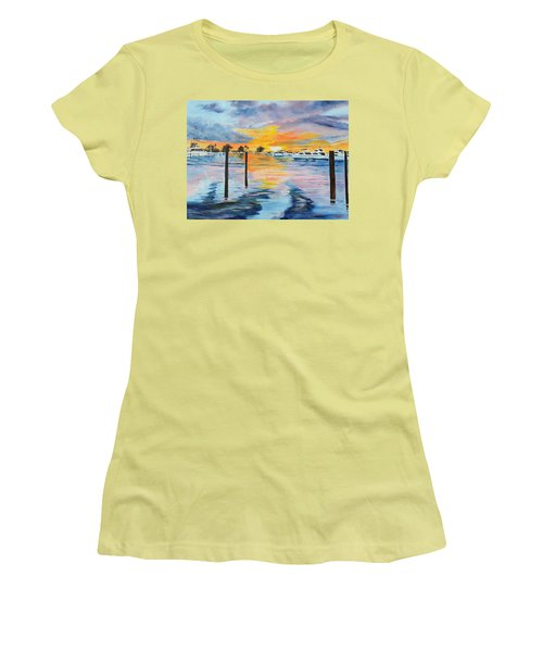 Sunset At The Yacht Club Women's T-Shirt (Athletic Fit)
