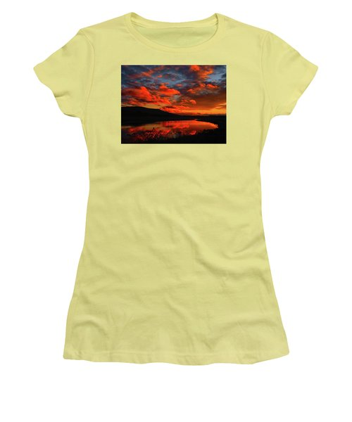Sunset At Wallkill River National Wildlife Refuge Women's T-Shirt (Athletic Fit)